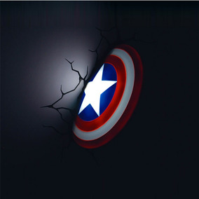 Luminária 3d Light Fx Vingadores Escudo Do Capitão América