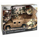Armored Humvee M1114 - Elite Force Escala 1:18 Ideal Gi Joe