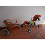 Antiguo Carro De Pedal Con Caballo Para Restaurar