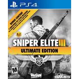 Sniper Elite 3 Ultimate Edition Ps4 Disco Nuevo Y Sellado
