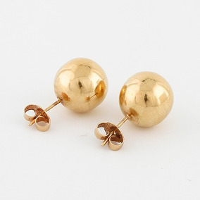 12 Pares Brinco Pérola Fashion Dourado. Ref: 464
