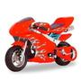Super Mini Moto Gasolina Ninja 49cc Infantil Vermelha 0km
