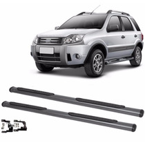 Estribo Lateral Ford Ecosport Grafite Completo Com Kit