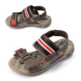 Sandalia Chinelo Papete Infantil Hurkus Couro K9035-74-84