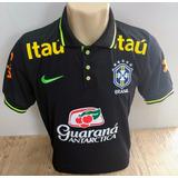 Camisa Brasil Polo Seleção Brasileira Treino Copa 2018