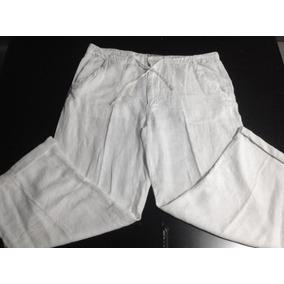 Pantalón De Lino Blanco Talla 40