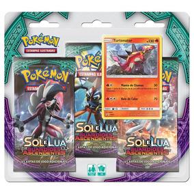 Pokemon Cartas - Sol E Lua 2 - Turtonator - Blister Triplo C