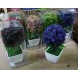 Topiario Con Flores Arbol Artificial