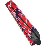 Correia Monograma Vermelha Com Logo Branco E Azul Fender