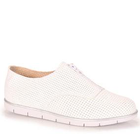 Sapato Oxford Feminino Moleca - Branco