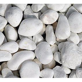 Piedra Decorativa Bola Blanca De Rio