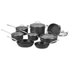 Bateria Clasica Anodizado 66-14n (negra) 14 Piezas Cuisinart