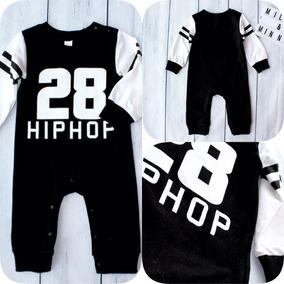 Macacão Bebê Outono Moletom Leve Roupa Estilo Hip Hop Cool