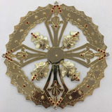 Aureola O Resplandor Para Imagen Religiosa 18cm Baño De Oro