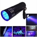 Lanterna Uv 9 Leds Ultra Violeta - Luz Negra Pericia