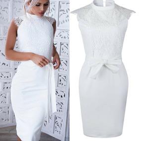 Vestido Noiva Casamento Civil, Vestido Curto Branco Noiva