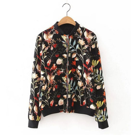 Chamarras Estampada Mujer Blazer Saco Cierre Abrigo Sweater