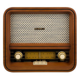 Radio Vintage Con Bluetooth Madera Natural Noblex Rx100bt