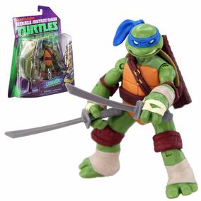 Leonardo - Tortugas Ninja - Figura Articulada Con Accesorios