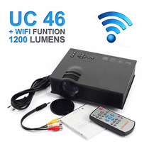 Mini Projetor Portatil Led 130 Pol Uc46 Wifi Data Show Filme