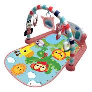Tapete De Atividades Musical Piano Safari Maxi Baby - Rosa
