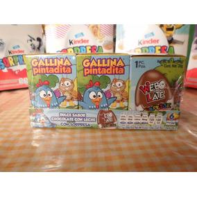 Huevo Sorpresa Tipo Kinder Gallina Pintadita 6pz Chocolate