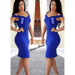 Vestido Azul Sencillo, Bonito Y A La Moda