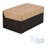 100 Cajas Hamburguesas Ó Pastelería (20x12x9cm) Delivery