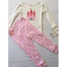 Carters: Pijama Fem. Camiseta M/l E Calça Novo C/etiqueta