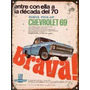Cartel Chapa Publicidad Antigua Chevrolet Pick Up Brava X231