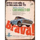 Cartel Chapa Publicidad Antigua Chevrolet Pick Up Brava X231