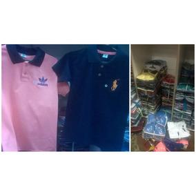 Kit 5 Camisetas Polo Infantil Masculino , Todas As Marcas