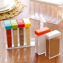 Porta Temperos Condimento Colorido 6 Peças Acrílico