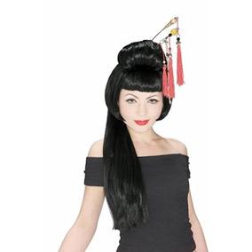 Disfraz Traje De La Muchacha De China Peluca Rubie