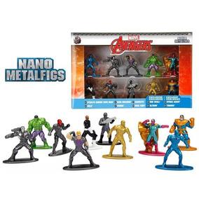 10 Bonecos Marvel Avengers Nano Metalfigs Hulk Thanos Vision