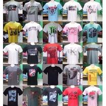 Kit C/ 10 Camisetas Marcas E Cores Variadas