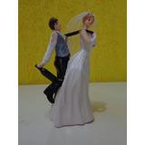 Enfeite Bolo Casamento Resina Noivinhos Frete Gratis