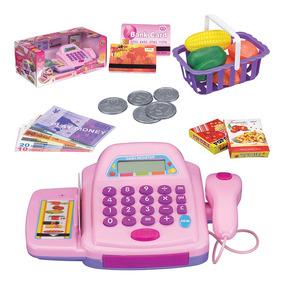 Caixa Registradora Infantil Com Som E Luz + Acessorios