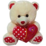 Urso Ursinho De Pelucia Pequeno Com Coração Love You - 30 Cm