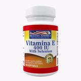 Vitamina E 400 Iu X100 Softgels Con Selenio Healthy America