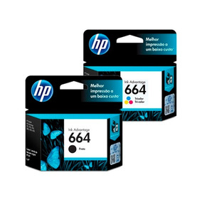 Pack Hp F6v29al 664 Black + Tinta Hp F6v28al 664 Tricolor