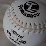 Pelota Softball Official Tamanaco Costura Blanca Sb 120