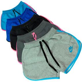 Short Feminino Nike Boxer Verao Praia Fitness Academia Borda
