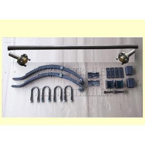 Eje Fiat C/ Elásticos 4 Hojas + Mov. 450 Kg - Kit 4