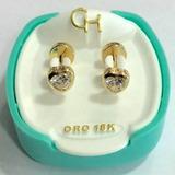 Abridores Ch Oro 18k Corazón Cubic Ch 184 Garantía Envío