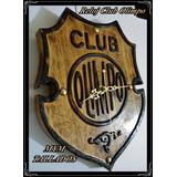 Reloj De Madera Tallada Del Club Olimpo De Bahia Blanca
