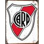 Cartel Chapa Publicidad Antigua Escudo River Plate X125
