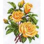 Matiz Gráfico Ponto Cruz Rosas Botões Flores Floral C112