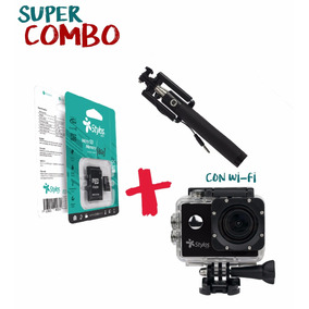 Combo Action Cam Wi-fi + Micro Tft 8gb + Selfiestick + Envío