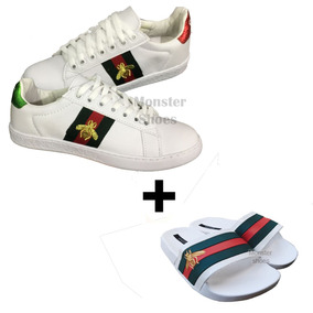 Tênis Sapatênis Gucci Unisex Compre O Kit Tênis E Chinelod+